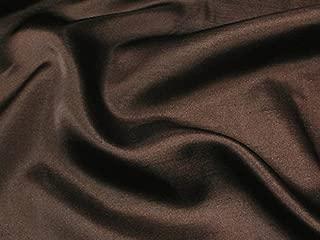 Shantung Satin Faux Silk Dupioni 60' Wide Fabric (Dark Brown STS-14)