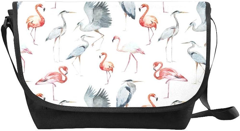 List price SALENEW very popular! InterestPrint Cute Girly Flamingo Mens Womens Messenger Cros Bag