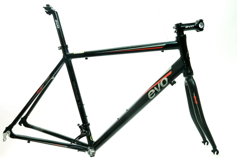 EVO Vantage 7.0?50?cm Small Aluminumロードバイクフレームセットフォーク+ Extrasブラック新しい