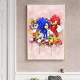 N / A Pintura sin Marco Erizo Anime Familia decoración Lienzo Moderno Cartel niños habitación decoración del hogarZGQ6652 40X55cm
