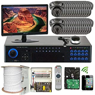 GW Security Inc 32CHP232Ch H.264 960H Realtime DVR with 32 x Effio CCD In/Outdoor Security Camera 700 TVL 3.6mm Lens Surveillance System Free LED (Black) (B00HIW7TN4) | Amazon price tracker / tracking, Amazon price history charts, Amazon price watches, Amazon price drop alerts