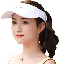 Fashion Letters Sports Fitness Sun Visor Moisture Wicking Hat Hats for Golf Tennis Cycling Running & Hiking Women Embroidery Comfort (Color : White, Size : Free Size)