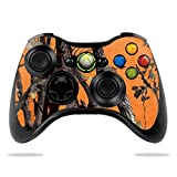xbox 360 skins for console camo - MightySkins Skin Compatible with Microsoft Xbox 360 Controller - Orange Camo | Protective, Durable, and Unique Vinyl Decal wrap Cover | Easy to Apply, Remove, and Change Styles | Made in The USA