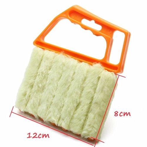 Da.Wa 7 Store vénitien de Pinceau Nettoyer poussière Nettoyeur Lattes Mini Duster Lavable Facile(Orange)