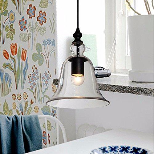 Pendentif lampe moderne en verre Forme Bell Feux Droplightlight Décoration Lampe Vintage Lampe suspendue pour salle à manger l'éclairage à la maison