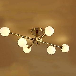 Postmodern Chandelier LED Ceiling Pendant Light Living Room Hanging Lamp Industrial Ball Glass Lampshade 6 Way Lighting Fi...