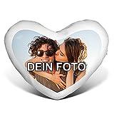 PhotoFancy® - Herzkissen mit Foto Bedrucken - Fotokissen in Herzform selbst gestalten (Herzkissen...