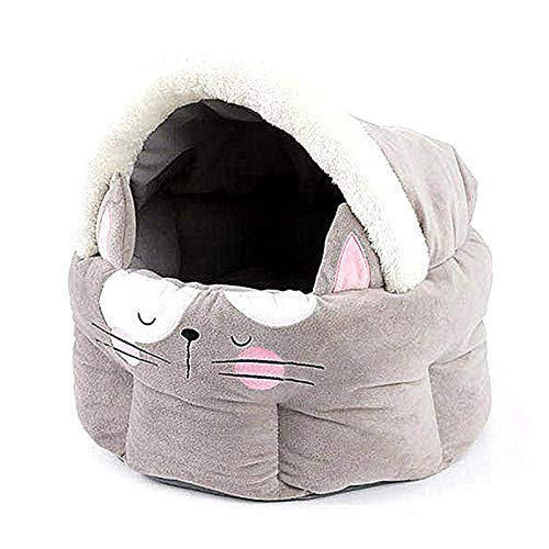 JY Cama para Mascotas, Bolso de Dormir de la Camarera de Gato Nueva, la Basura para Mascotas de Gato, Suministros para Mascotas - Suave Amplificador; Cómoda Cabaña de Cama de Gato C