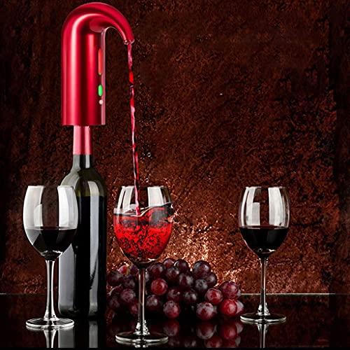 QAWSED Bomba De Vino Aireador Eléctrico De Vino, Vertedor Portátil Decantador De Vino Instantáneo Dispensador Bomba One-Touch-Automatic Usb Recargable Para Rojo Y Blanco