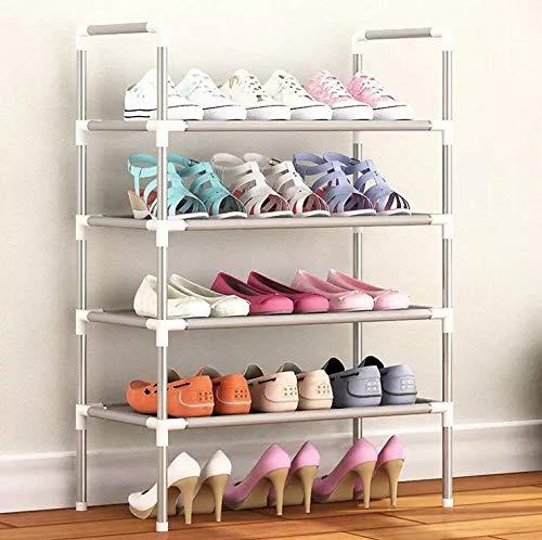 LOEMWJ Zapatero organizador de zapatos de aluminio de metal para zapatos, estante de almacenamiento para zapatos, organizador de casa, accesorios (color: blanco)