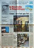 NOUVELLE REPUBLIQUE (LA) [No 15293] du 30/01/1995 - L'HOMME ET LA NATURE PAR GERBAUD - VITICULTURE - VINS ET CRUS DE LOIRE A ANGERS - UN MALFAITEUR SAUVE DE LA NOYADE PAR 2 GENDARMES A EPUISAY - LES SPORTS - BASKET - CROSS-COUNTRY - A 18 ANS - SEBASTIEN RETROUVE SA NOURRICE D'ACCUEIL