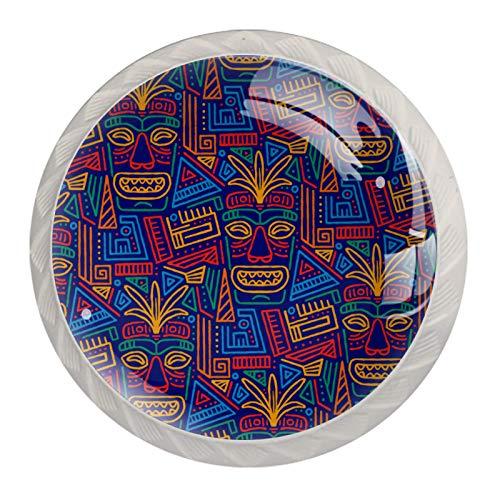 Manopole per cassetti e cassetti, con pomelli in cristallo e viti, per armadietti, casa, ufficio, credenze, colori etnici, Aloha, 35 mm