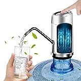 Dispensador de Bomba de Agua, Sebami Bomba de agua potable Dispensador de Agua Potable Botellas Con Botón,Bomba de agua potable eléctrica para Hogar y oficina (Plateado)