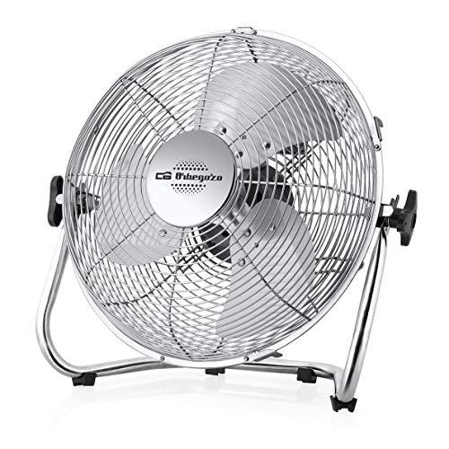 Orbegozo PW 1321 - Ventilador industrial Power Fan, 3 velocidades, inclinación regulable, sistema antivuelco, asa de transporte, aspas de 20 cm, 45 W