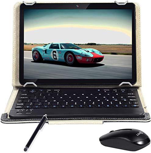 Android 90 Tablet 10 INCH Quad Core Prozessor 4 GB RAM und 64 GB Tablet PC WiFi Speicher GPS Kamera und Zwei Kartensteckplatze Black