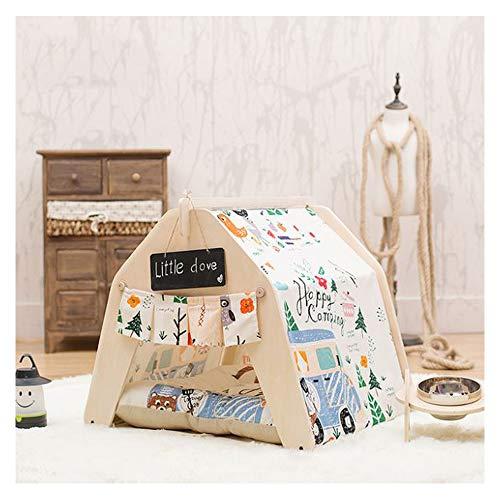 GDDYQ Pet House Indoor huisdiertent kattenhond speelhuisje en klein bord afneembare reiniging, er zijn veel opties