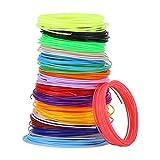 Recambios de filamento de bolígrafo 3D, recambios de filamento de diferentes colores para bolígrafo 3D , 20 recambios de filamento de bolígrafo de impresión 3D de 1,75 mm