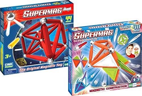 Supermag Toys 0253 Bundle One Color 44 + Tags Trendy 48 Magnetisches Konstruktionsspiel