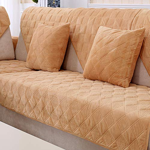 Ginsenget Dicke Sofa uuml berz uuml ge,1/2/3/4-Sitz Uuml berwurf,Sofa Schutz uuml berzug.Couch Bett uuml berwurf,Sofa rutschfeste Abdeckung,gelb,70X240cm