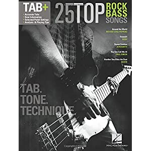 25 Top Rock Bass Songs Tab: Noten, Songbook, Grifftabelle für Bass-Gitarre
