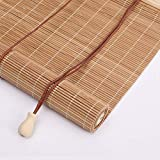 Outech Persianas Venecianas Madera Persiana Enrollable de Bambú para Vventanas y Puertas Cortina de Madera Estores Enrollable