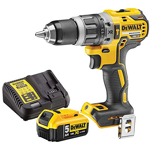 Dewalt DCD796N 18v Brushless Compact Combi Drill with 1 x 5.0Ah Battery DCB184 & DCB115 Charger