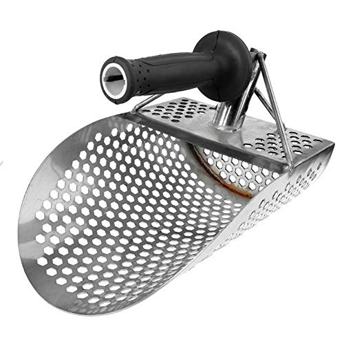 LYDQ Pelle à sable de plage en acier inoxydable, outil de chasse, durable pour détecteur de métaux