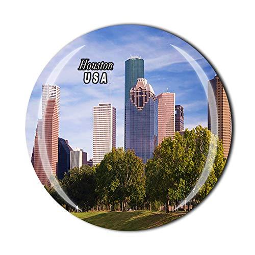 Imán para nevera de Houston Texas, Estados Unidos, recuerdo de regalo, colección de pegatinas magnéticas