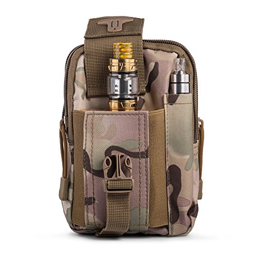 Ecigdiy Tactical Molle Tasche Kompakte EDC Mehrzweck-Dienstprogramm Gadget Gürtel Gürteltasche mit Handyholster für iPhone 6 / 6S, Camping Wandern Outdoor-Ausrüstung (ACU-Tarnung)