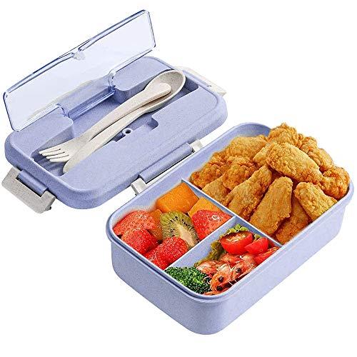 Bento Box, ZoneYan Lunchbox Kinder, Brotdose mit Fächern, Auslaufsichere Brotzeitbox, Vesperdose Mikrowelle Heizung für Schule/Arbeit/Picknick Reisen (purple)