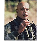 Christopher Judge 8x10 Photo Stargate SG-1 Stargate: Continuum Stargate: The Ark of Truth Holding Tiny Pair of Binoculars Looking Surprised kn