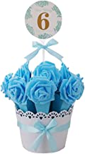 Decorative Candy Box Wedding Party Favor Gift Box, Blue Box + Blue Flower