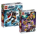 Collectix Lego Set – Marvel Thor Mech 76169 + Marvel Thanos Mech 76141 – Juego de regalo perfecto para niños a partir de 7 años
