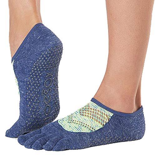 Toesox Grip - Calcetines de pilates para mujer, antideslizantes, punta completa, para yoga y ballet, Mujer, Calcetines, YTOEWTLUNASONIC-M, Sonic, M