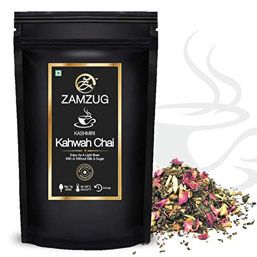 Kashmiri Kahwa Rose, Saffron, Almonds Chai Tea ~Makes 50 Cups