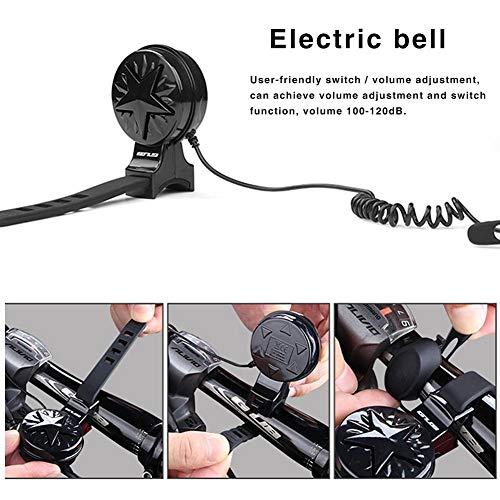 Ardorman Fahrradklingel, wasserdichte Elektrische Fahrradklingel USB Wiederaufladbare Little Noise Horn Bell Fit Für MTB Rennrad