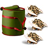 ZOBER Christmas Light Storage Bag - with 3 Cardboard Wraps to Store A Lot of Holiday Christmas Light Bulbs, Nonwoven Fabric, Reinforced Stitched Handles