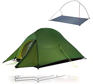 Uppgraderat Cloud Up 2 ultralätt tält fristående 20D tyg campingtält för 2 personer med gratis matta -20D armégrön, Ukraina