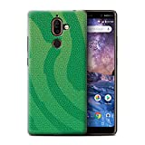 Phone Case for Nokia 7 Plus 2018 Reptile Skin Effect Pit
