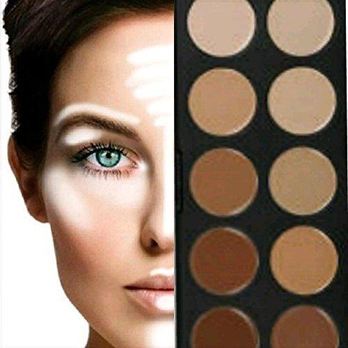 BOOLAVARD 10 + 5 Couleurs Palette Correctrice Palette Maquillage Cosmetic Cream Concealer Correcteur avec Black Box
