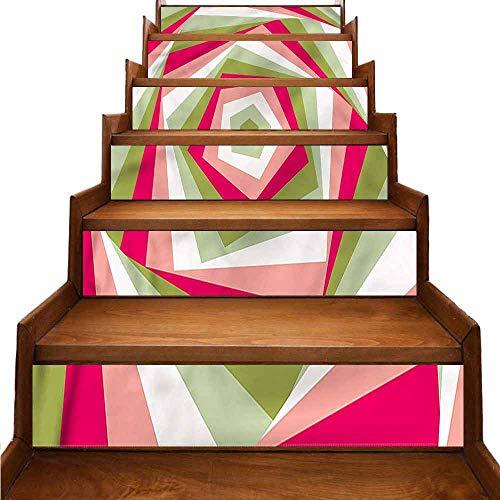 JiuYIBB - Adhesivo para decoración del hogar, diseño geométrico, impermeable, abstracto, círculos pálidos