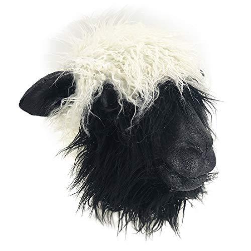 Valais Blacknose Schaf Tiermaske Faschingskostüm Spaß für Events und Partys Tier Bauernhof Zoo Spaß Halloween Party Verkleidung
