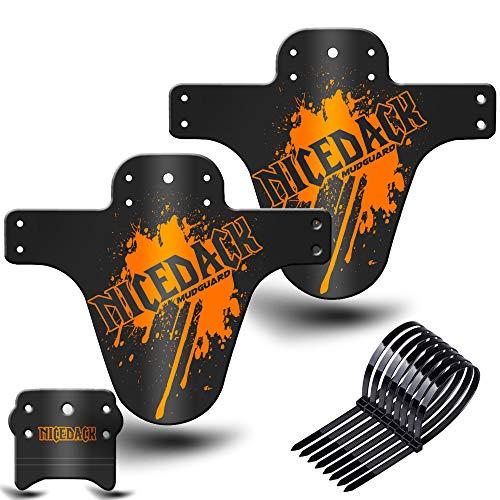 """NICEDACK MTB Schutzblech, Downhill Schutzbleche, Mountainbike Spritzschutz Fahrrad Mud Guard Set Passen 26\"""" 650B 27,5\"""" 29 Zoll Fettes Fahrrad (Orange)"""