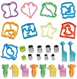 29 PCS SET - JOSH TAYLORS Sandwich Cutters for Kids, Turn Vegetables, Fruits, Cheese, and Cookie Into Funbites - Add to Bento Box and Lunch Box - Toddlers Boys and Girls - Easy to Use