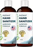 Instant Hand Sanitizer Gel - Value Size Advanced Natural Hand Sanitize Cleaner Portable Aloe Vera Moisturizer Packaging May Vary 4 oz 2 Pack