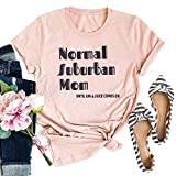 IOEGW Women's Normal Suburban Mom Until Jin Juice Comes On T Shirt Cool Funny Mothers Day Mom Gifts Tee Tops Pink S