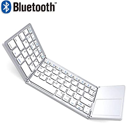 RENYAFEI Bluetooth Tastatur  Ultra-D nn Wiederaufladbare Kabellose Tastatur Full-Size Multi-Device Funktastatur Mit Android Ios Und Windows Systemen Wei