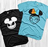 Jack and Sally Matching Shirts Disney Couples Shirts Jack Skellington and Sally Custom Matching Shirts Couple vacation