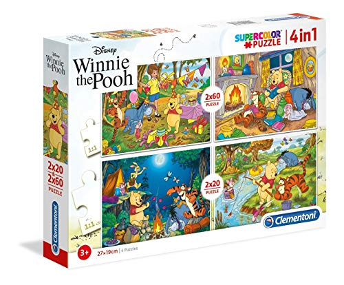 Clementoni 20 2 Puzzles 60 Piezas Winnie The Pooh, Multicolor (07618.5)