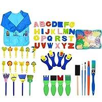 MYhose Pennelli per Pittura in Spugna per Bambini per l'apprendimento precoce Fai-da-Te, Kit per Pittura per Bambini, Colori Assortiti 56 Pezzi/Set #2